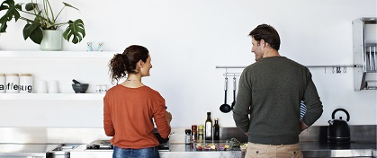 couple kitchen
