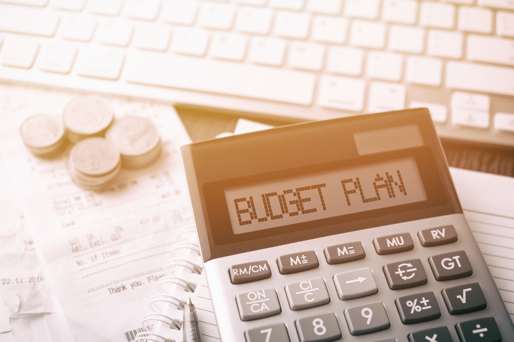 calculator to help you create a budget plan