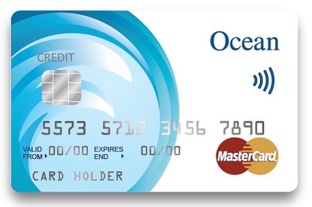 ocean contactless credit card